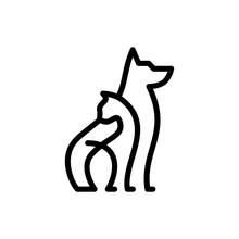 Dog Cat Pet Care Outline Line ...