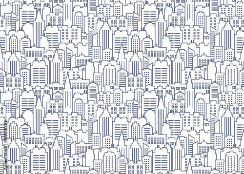 Fotomural City seamless pattern