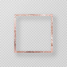 Vintage Frame With A Pink Gold...