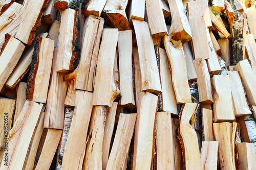 In de dag Brandhout textuur fried firewood background