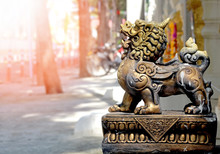 Powerful Chinese Lion Statue,g...