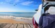 Leinwandbild Motiv vacaciones de verano en la playa