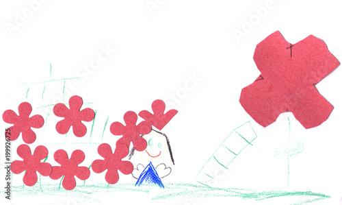 Conny und die Reise zur Riesenblume Tableau sur Toile