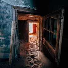 Abandoned House With Sandy Floor