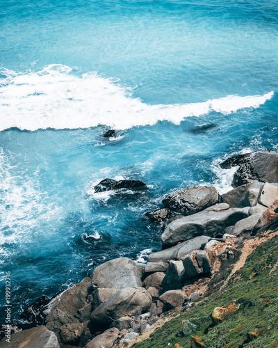 Sandy coast with rocks