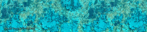 banner panorama rusty old cyan metal cracked texture