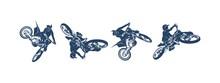 Motocross Jump Logo Vector, Mo...