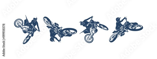 Photo  Motocross Jump Logo Vector, Motocross Freestyle silhouette