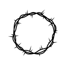Crown Of Thorns Jesuschrist Vector Illustration Design