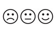 Face smile icon positive, negative neutral opinion vector signs