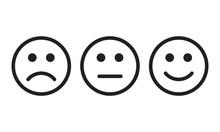 Face Smile Icon Positive, Nega...