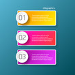 vector color modern progress paper banners set with three options or steps can be used for business infographics, numbered banners or website layout