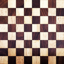 Wooden Chess Board Background....