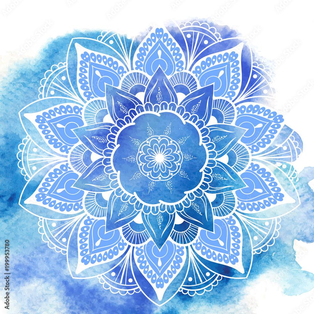 Fotografiet  Flower Mandala