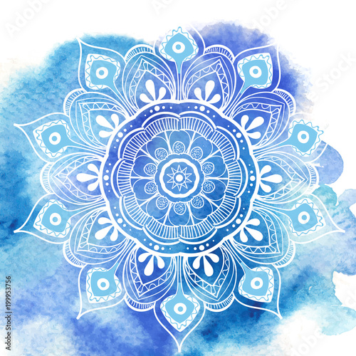 Flower Mandala Canvas-taulu