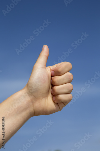 Fotografie, Obraz  thumbs up sig