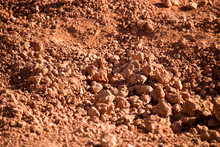 Red Clay Soil On Nature As A B...