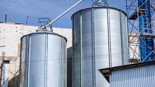 Poster Industrial geb. Photo of beer factory