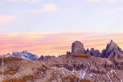 Alpenglow landscape Canvas Print