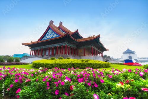 .Chiang Kai-Shek Memorial Hall,  Landscape scenery view of Chiang Kai-shek Memor Canvas Print