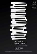 Music Grand Piano Poster Backg...