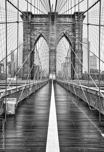 In de dag Brooklyn Bridge Brooklyn bridge of New York City