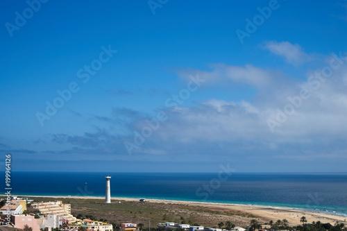 Tuinposter Canarische Eilanden View on a landscape in Morro Jable, Fuerteventura, Spain.