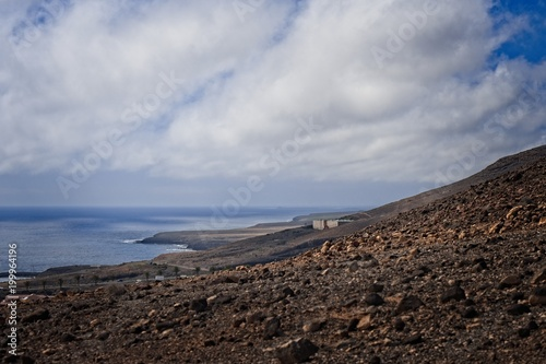 Deurstickers Canarische Eilanden View on a landscape in Morro Jable, Fuerteventura, Spain.