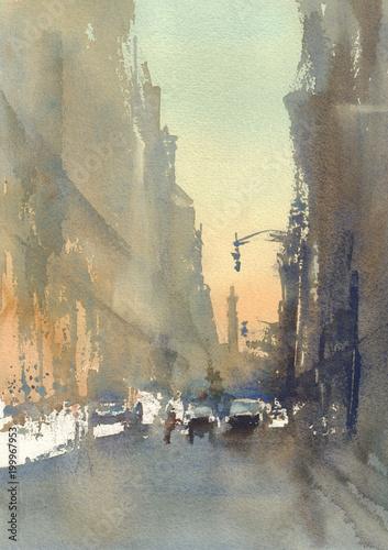 nowoczesne-miasto-ulica-abstrakcyjny-widok-akwarela