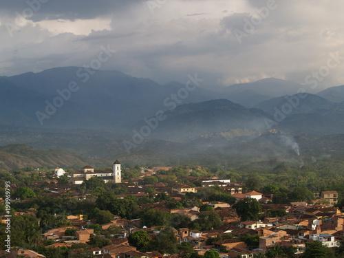 Poster Donkergrijs Santa Fe de Antioquia