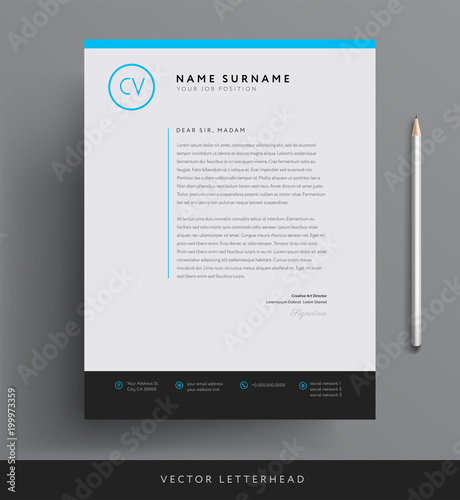Elegant letterhead template design in minimalist style - Buy this ...