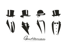 Gentleman Icon On White Backgr...