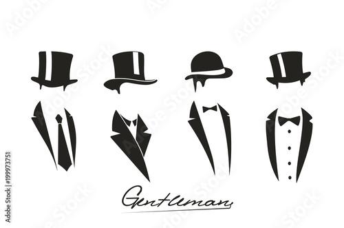 Fotografía Gentleman icon on white background.