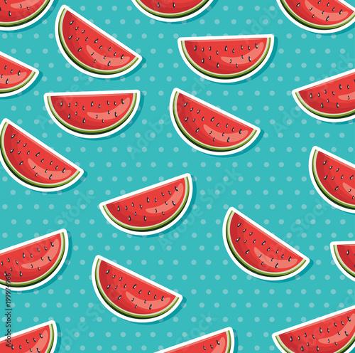 świeży arbuz zdrowa żywność wzór wektor ilustracja projektu