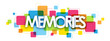 MEMORIES colourful letters icon