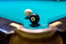 Billiard Game, Ball Eight Near...