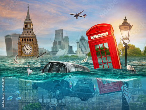Fotografie, Obraz  Drowning London