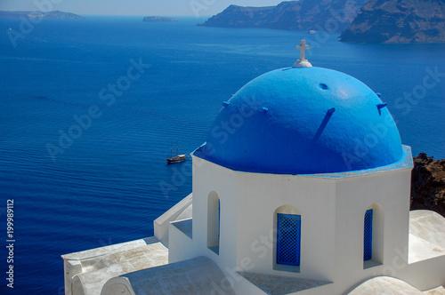 Papiers peints Santorini Blue Dome
