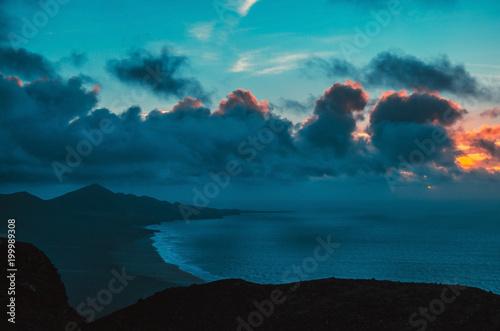 ocean landscape (sunset) #199989308