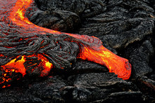Hot Magma Escapes From An Eart...