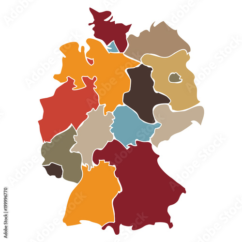 Carte Allemagne Simplifiee.Carte Simplifiee Des Regions D Allemagne Buy This Stock