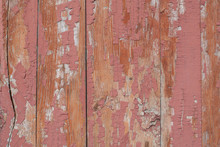 Old Wooden Surface With Cracks...