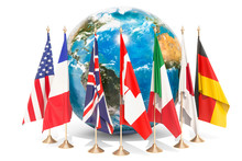 Flags Of All Members G7 Around...