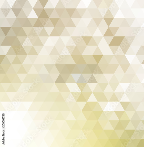 Poster Beige template background with gray triangles