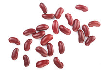Red Kidney Bean Isolated On Wh...