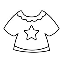 Line Baby Girl T-shirt Fashion Clothes