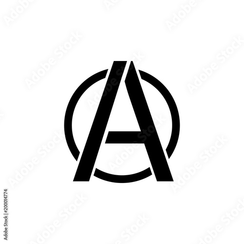 Valokuva  a sign of anarchy icon