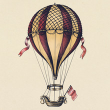 Hot Air Balloon Vintage Style ...