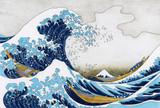 Hokusai The Great Wave Of Kanagawa adult coloring page