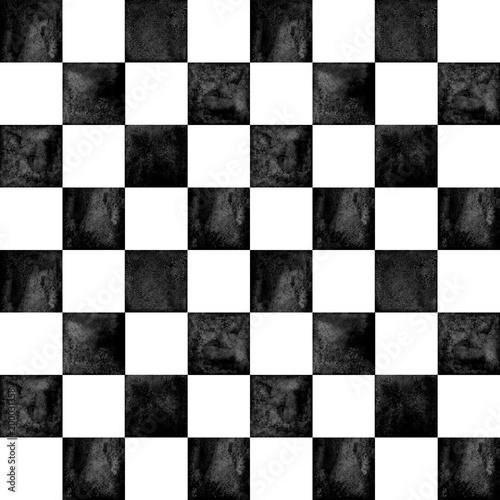 Carta da parati Trendy checkered pattern background